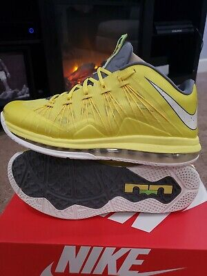 fd19025a3e Nike Air Max LeBron X Low Sonic Yellow Grey Size 11 mens 2013' 579765  700🔥🔥