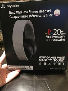 PS4 GOLD 20th anniversary headset SEALED brand new in box!!!!!