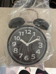 Analog Twin Bell Alarm Clock Quartz Silver Backlight LOUD Wake Old Fashioned
