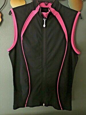 LULULEMON Athletica Black Vest Pink Trimming Size 6 EXCELLENT
