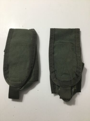 Pre-MSA Paraclete Smoke Green Flash Bang Pouches X 2  Never issued