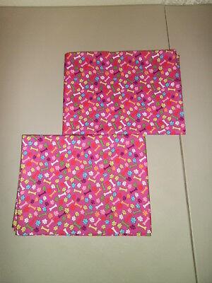 Set of 2 Paw Prints/Dog Bones M'Liss Standard Size Pillowca