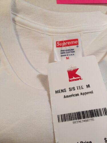 fcfe047fac73 Supreme Blank White Tee T-Shirt Kmart Box Logo Bogo Size Medium M American  S S