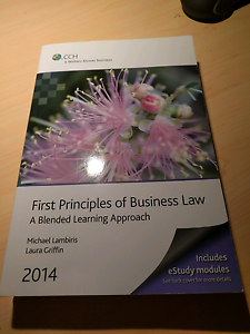First Principles of Business Law Ormond Glen Eira Area Preview