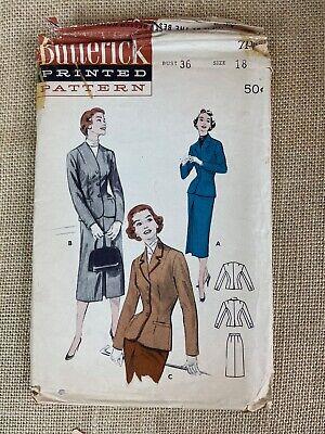 1950s Mens Suits & Sport Coats | 50s Suits & Blazers 1950s Vintage BUTTERICK Sewing Pattern 7118 Man Tailored Suit * Size 36/ Bust 18 $24.99 AT vintagedancer.com