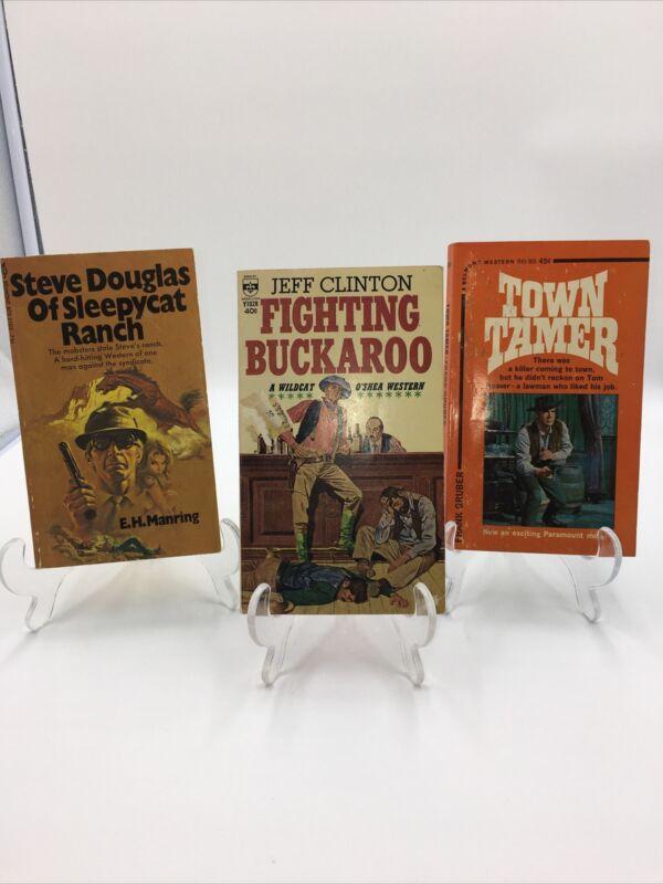 Vintage Western Paperback Books Lot Of 3