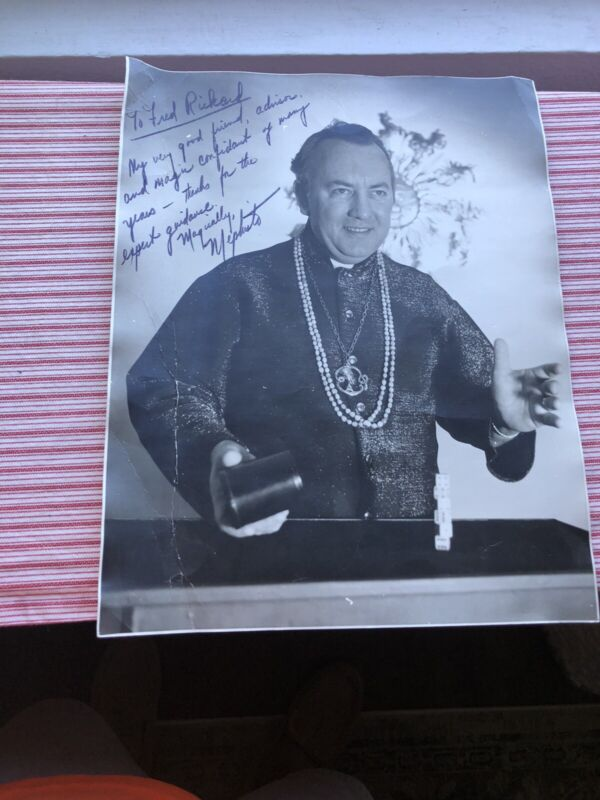 Vintage Mephisto Signed Photograph Magician Hall Of Fame Magic Fred Rickard