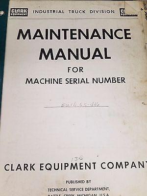 Clark Forklift Eutd Maintenance Manual