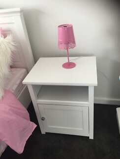Bedside tables white