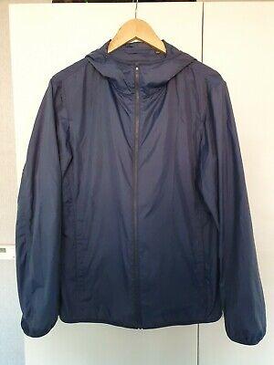 Uniqlo Navy Blue Lightweight Rain Jacket Large