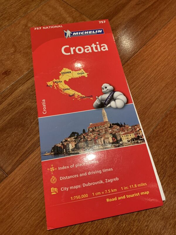 BRAND NEW CROATIA ROAD MAP MICHELIN DRIVING