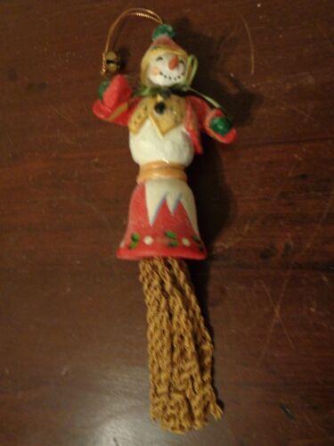 House Of Hatten 2002 Snowman Tassel Christmas Ornament