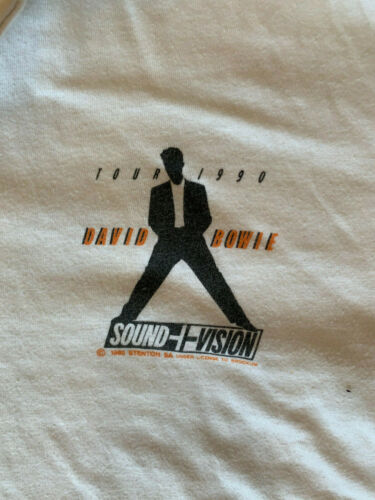 David Bowie golf shirt from 1990 SOUND+VISION tour