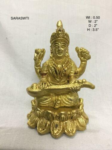 Metal Goddess Saraswati Brass Statue Showpiece Idol For Home Décor Temple Gift