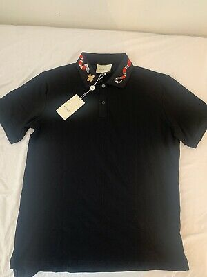 Gucci Snake Bee Collared Polo T-shirt - Size 3XL