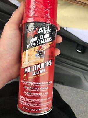 Spray Foam Sealant Insulation Fix All Multi-purpose Case 12 Cans Brand New