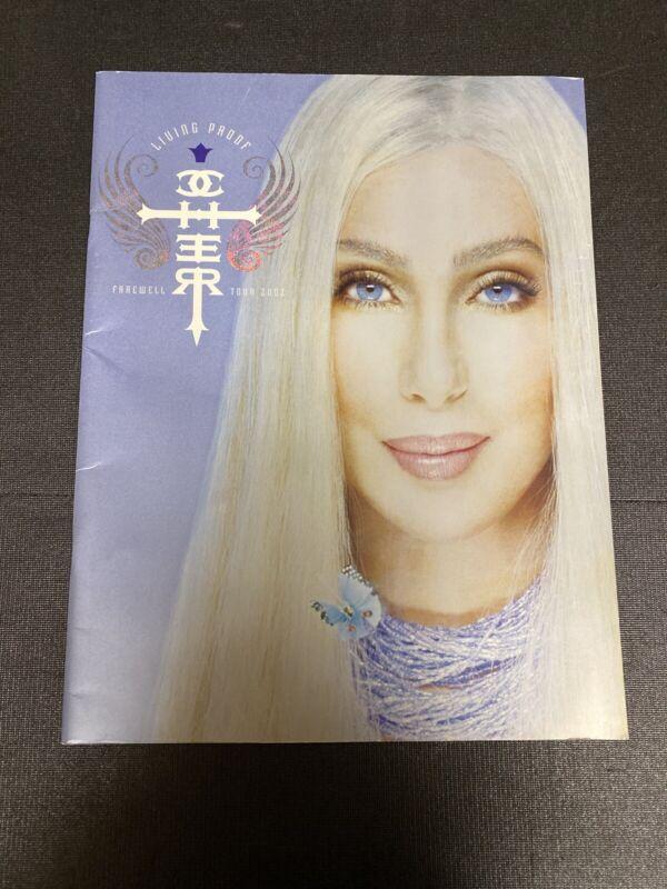 Cher Living Proof Farewell Tour 2002 Souvenir Program Pre Owned.