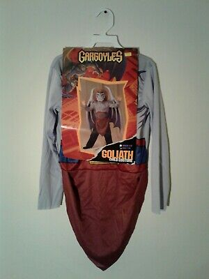 Disney Tv Show Halloween Costumes (1995 Disguise Inc. Disney Gargoyles Goliath Kids Costume Rare HTF)