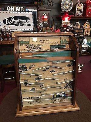 "1932 Keeney Steeplechase Horse Racing Arcade Game ""Watch Video"""