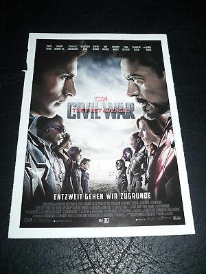 Captain America  Civil War  Film Card  Chris Evans  Robert Downey Jr
