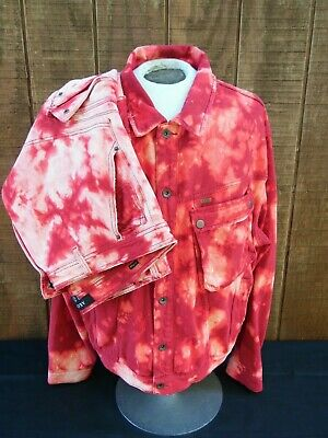 Mens Akoo kings matching outfit XXXL jacket reds sleeves and jeans  42x33 for sale  Shipping to India