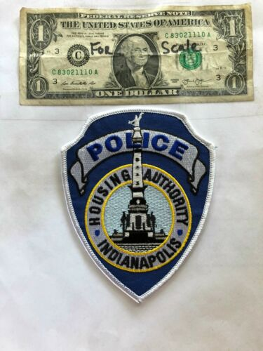 Indianapolis Housing Authority Indiana Police Patch Un-sewn great shape