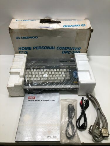 MSX DAEWOO PERFECT Personal Computer DPC-200 Vintage **Mint condition**