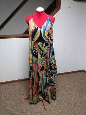 NWT Nicole Miller Silky Floral Maxi Dress-$265