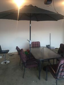 Outdoor Setting - Table, 6 Seats and Umbrella Fulham West Torrens Area Preview