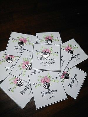 WEDDING BRIDESMAIDS  or Guest  SMALL THANK YOU GIFT  Card Small Charm and bag](Bridesmaids Gift)