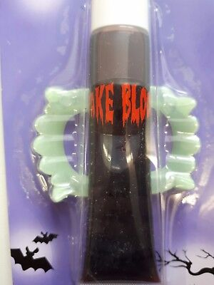 Vampir-Gebiss Set mit Kunstblut Vampir Kostüm Vampirzähne Vampirgebiss 129241113
