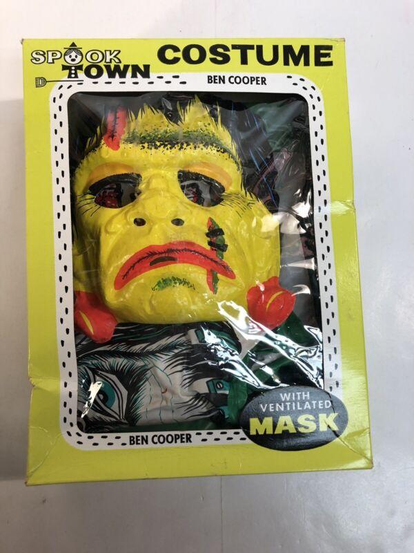 1973 Ben Cooper Plastic Frankenstein Halloween Costume Monster Large Spook Town