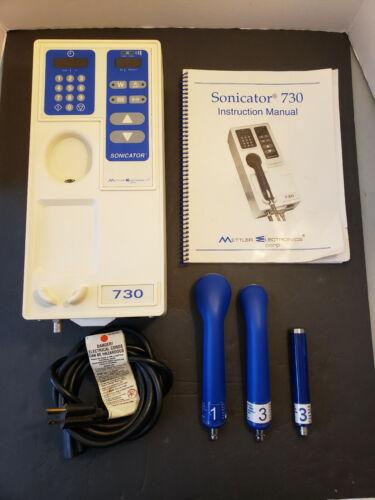 Sonicator 730 Ultrasound Generator Mettler Electronics w/ 3 Applicators ME 730