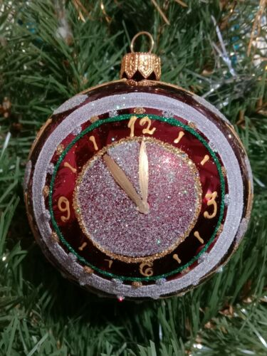 Modern Ukrainian Christmas Ornament Tree Decoration Glass Ball Happy New Year!