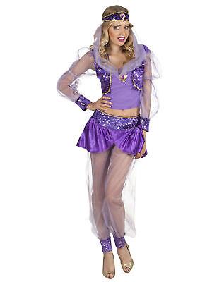 Kostüm sexy Bauchtänzerin lila Gr.M Karneval - Lila Bauchtänzerin Kostüme