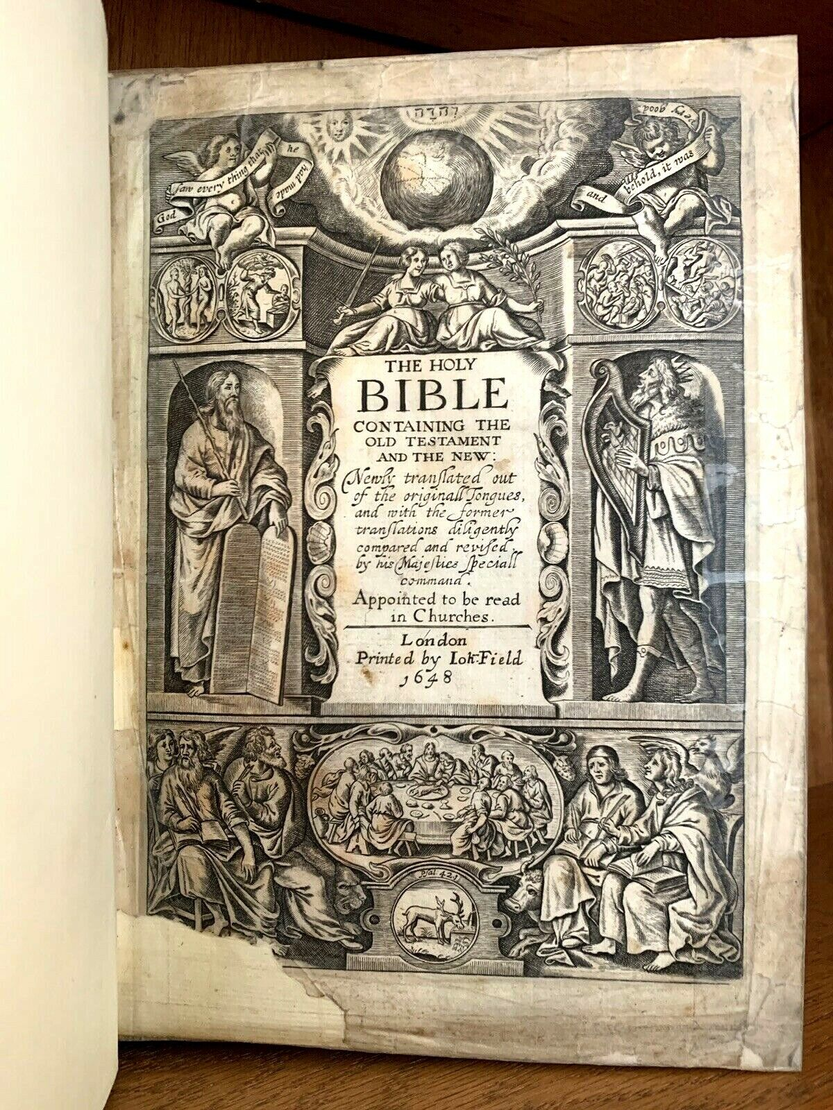 viaLibri ~ 1648 KING JAMES BIBLE - Containing the Old