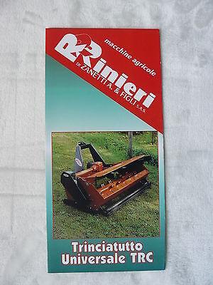 0377) RINIERI Italien - Trinciatutto Universale TRF - Prospekt Brochure
