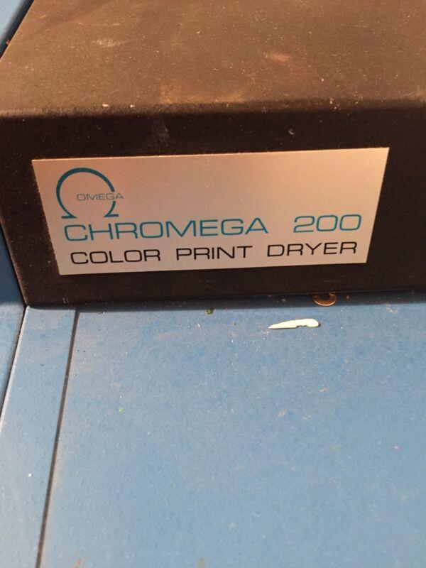 Omega Chromega 200 Color Print Dryer