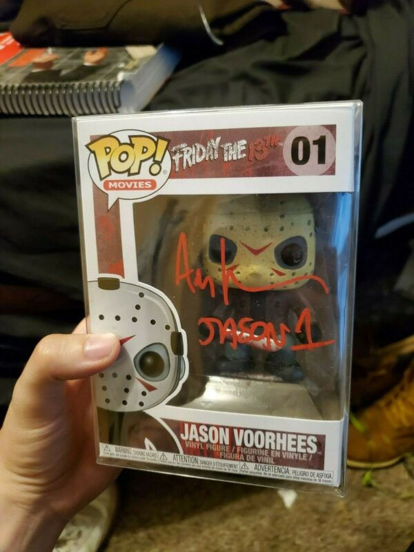 Jason Voorhees Vinyl Funko Pop Autographed Beckett Witnessed