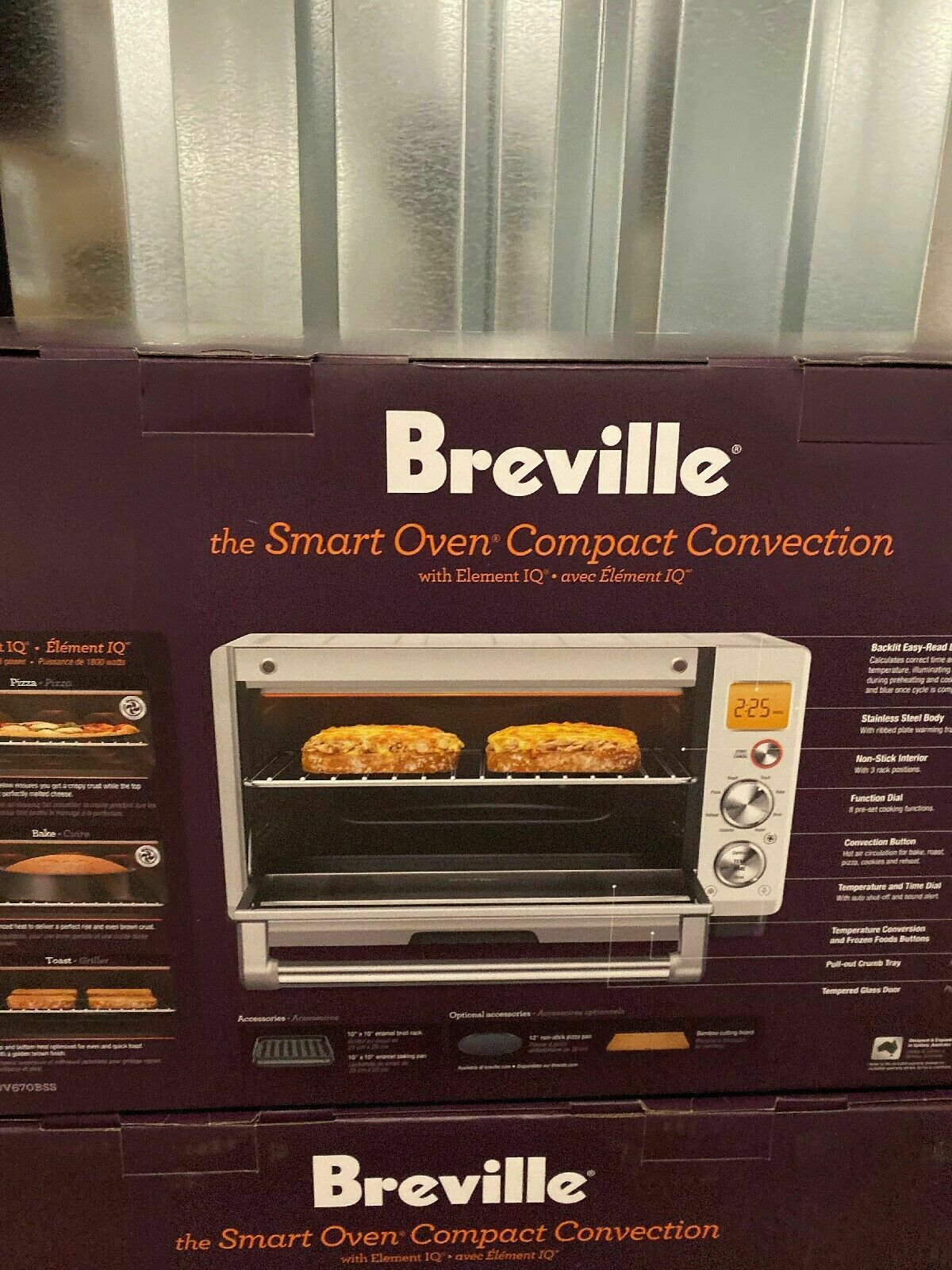 New Breville Compact Convection Smart Toaster Oven BOV670BSS