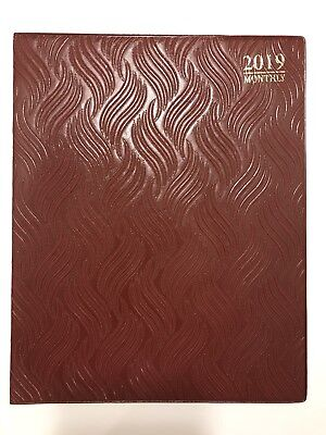 2019 Red Monthly Day Planner Appointment Book Calender Organizer 8 X 10