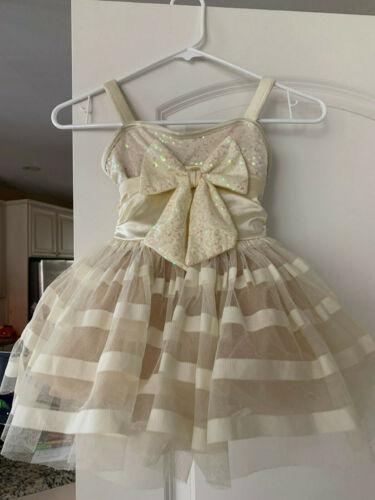 Pre-Owned Weissman Young Girls Dance Tutu Dress size 4-5 XSC