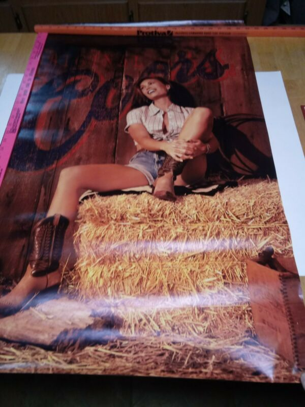 Original Coors Poster with pin-up Girl, 24 X 36