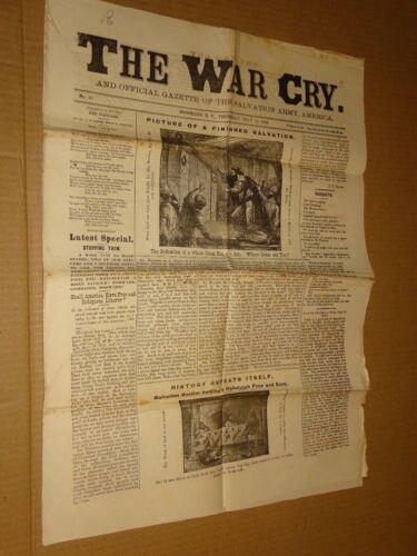 1883 Salvation Army War Cry Newspaper July 19