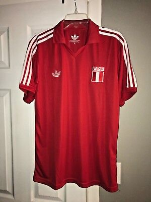 2018 Russia World Cup Peru National Team Retro Vintage Adidas Red Away Jersey MD