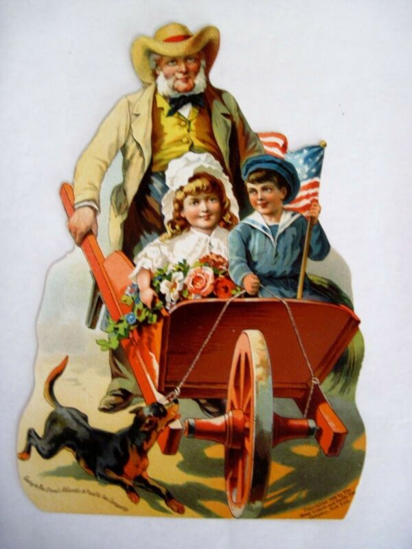 Charming 1884 Victorian Trade Card Advertising Great Atlantic & Pacific Tea Co *