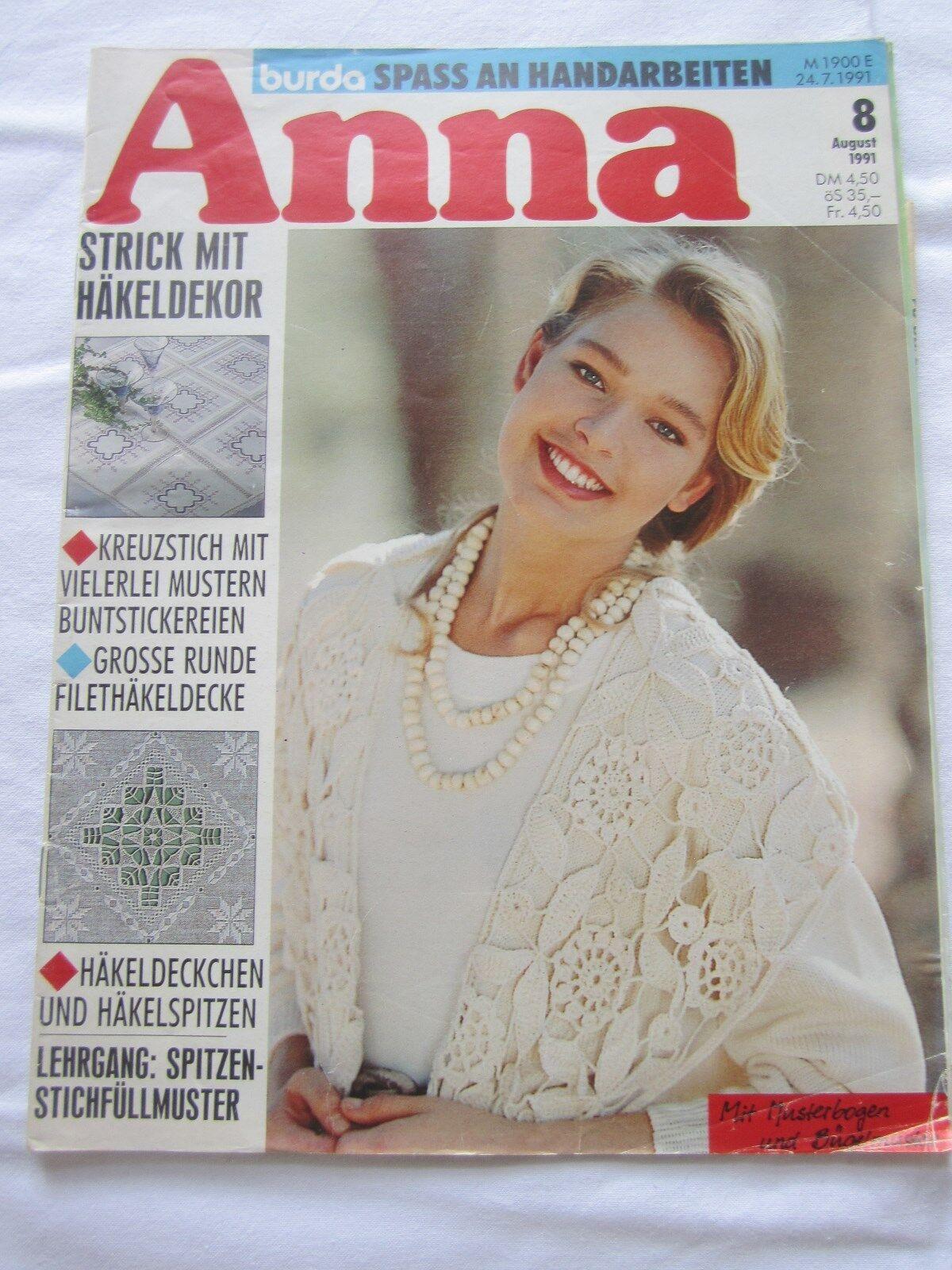 Anna Spass mit Handarbeiten August 1991