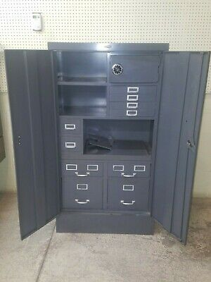 Cole Steel Industrial Desk N File Office Cabinet W Safe Rare Pickup Only