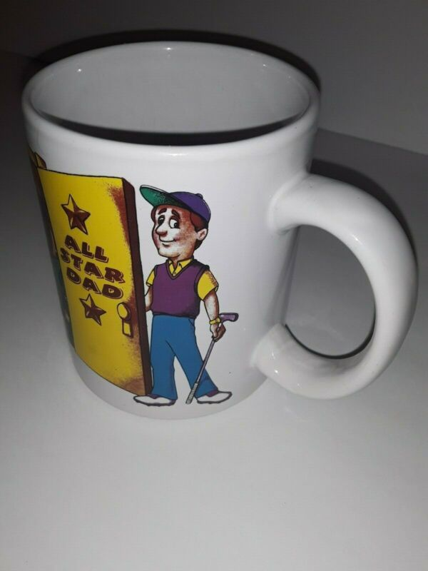 Artmark All Star Dad Golf Vintage Collectible Ceramic Mug.