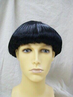 Black Bowl Cut Wig Retro 70's Prom Boy 60s Beatle Moe Stooge Amish Monk Quaker 60s 70s Wigs